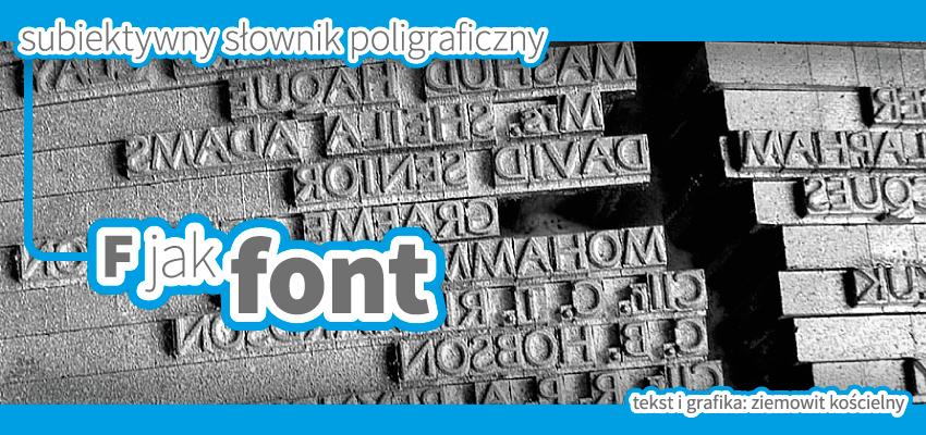 Font a czcionka w poligrafii